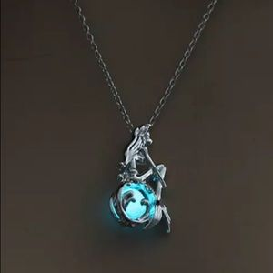 Jewelry - ARRIVED! Glow in the Dark Mermaid Necklace